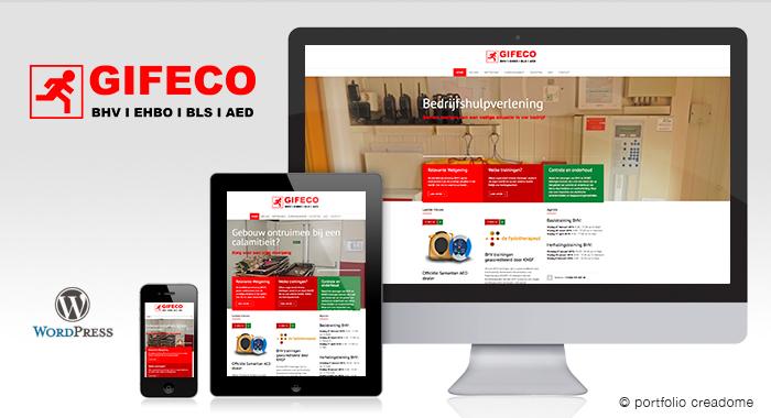 Design en realisatie CMS website Gifeco