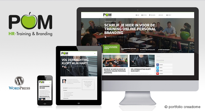 Design en realisatie CMS website POM HR-Trainingen & Branding
